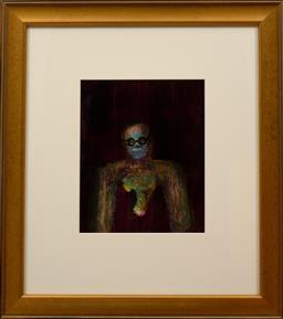 Sale 9150J - Lot 4 - SIDNEY NOLAN (1917 - 1992) Male Figure oil on paper 29 x 24 cm signed & dated 69 verso