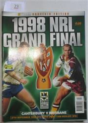 Sale 8404S - Lot 23 - 1998 Big League Grand Final Programme, Sept 27 (Vol.79), Brisbane v Canterbury