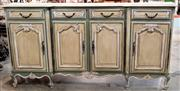 Sale 8516A - Lot 82 - A Louis XV style hand finished 4 panelled serpentine enfilade (sideboard), features beautiful hand carved detail, & its original bro...