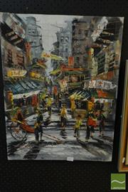Sale 8522 - Lot 2077 - S. Ng Hanoi 1970, Oil on Canvas