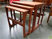 Sale 8607 - Lot 1047 - G-Plan Teak Nest of Three Tables