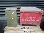 Sale 8601 - Lot 1481 - Pair of Metal Military Lift Top Boxes