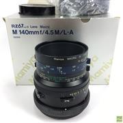 Sale 8648A - Lot 14 - Mamiya RZ67 Pro II 140mmf/4.5M/L-A Macro Lens, in box