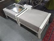 Sale 8676 - Lot 1354 - Pair of Modern Outdoor Poolside Ottomans
