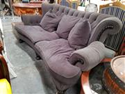 Sale 8688 - Lot 1097 - Black Fabric 2-Seater Buttoned Back Lounge
