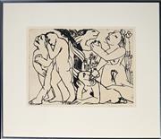Sale 8995 - Lot 2004 - Anita Klein (1960 - ) - Knowledge of Good & Evil, 1984 25 x 34 cm (frame: 46 x 53 x 2 cm)