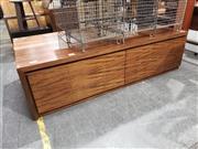 Sale 8988 - Lot 1081 - Timber Entertainment Unit (h:53 x w:193 x d:49cm)