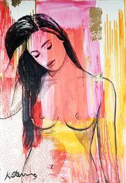 Sale 9034A - Lot 5055 - Krisite Stenning (1980 - ) - Nude 178 x 122 cm (stretched and ready to hang)