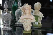 Sale 8324 - Lot 9 - Austrian Porcelain Bust of a Lady