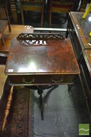 Sale 8390 - Lot 1452 - Single Drawer Side Table on Tri Pod Base