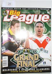 Sale 8404S - Lot 24 - 1999 Big League Grand Final Programme, Sept 26 (Vol.80, No.30), Melbourne v St George