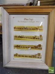 Sale 8407T - Lot 2064 - Pharlap In Harlequin Frame