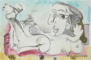 Sale 8642A - Lot 5018 - Pablo Picasso (1881 - 1973) - Nu Couche loiseau 50 x 75cm (frame: 56 x 81.5cm)