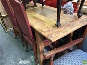 Sale 8601 - Lot 1339 - Recycled Timber Farmhouse Table (76 x 184 x 85cm)