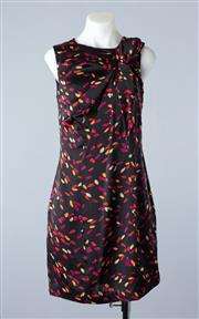 Sale 8800F - Lot 99 - A Miu Miu printed silk blend shift dress, size EU 38