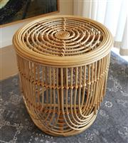 Sale 8858H - Lot 36 - Cane Stool or Occassional Side Table, H 58 x D 48 cm -
