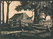 Sale 8896A - Lot 5006 - Lewis Roy Davies (1897 - 1979) ( 2 works) - The Shanty by the Swamp, 1922; Abandoned Selection, 1922 10.5 x 14.5 cm; 10 x 13.5 cm