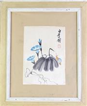 Sale 8995 - Lot 2094 - Framed Chinese Flowers Print, (H:57cm, W:48cm)