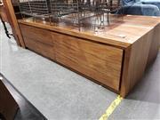 Sale 8988 - Lot 1082 - Timber Entertainment Unit (h:53 x w:193 x d:49cm)