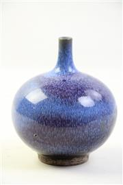 Sale 8997A - Lot 638 - Globular Junyao vase with tapering beck (H14cm)
