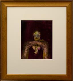 Sale 9150J - Lot 5 - SIDNEY NOLAN (1917 - 1992) Male Figure oil on paper 29 x 24 cm signed & dated 69 verso