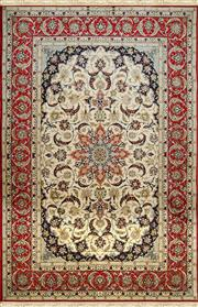 Sale 8380C - Lot 1 - Superfine Persian Silk Isfahan 235cm x 160cm