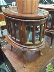 Sale 8412 - Lot 1029 - Mahogany Oval Drinks Cabinet with Tray
