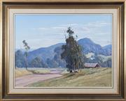Sale 8489A - Lot 6 - Leonard Long - The Road to Cambewarra, South Coast, New South Wales 44 x 60cm