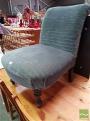 Sale 8480 - Lot 1090 - Blue Velvet Chair