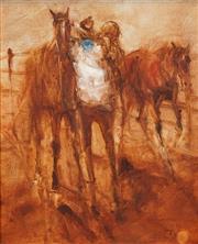 Sale 8492 - Lot 543 - Hugh Sawrey (1919 - 1999) - Augustus Downs Gulf Country, Country Qld. 29.5 x 24cm