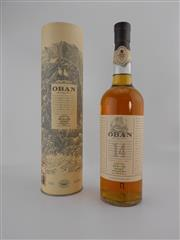 Sale 8498 - Lot 1726 - 1x Oban 14YO Single Malt Scotch Whisky - 700ml in canister