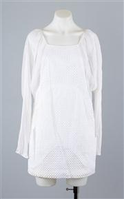 Sale 8685F - Lot 11 - A Thakoon structured cotton lace and sheer silk sleeved dress, size 2