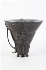 Sale 8802 - Lot 156 - Carved Resin Libation Cup H:12cm