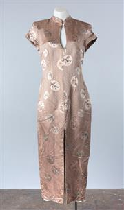 Sale 8800F - Lot 44 - A Lisa Ho printed silk blend cheongsam, size 12