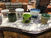 Sale 8822 - Lot 1822 - Collection of 6 Ceramic Pots (6)