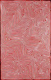 Sale 8904H - Lot 13 - GEORGE (HAIRBRUSH) TJUNGURRAYI (C. 1947 - ) - Tingari 154cm x 97cm