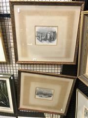 Sale 8903 - Lot 2042 - Pair of Antique Engravings depicting Historic Sydney, 45 x 50cm (frame)
