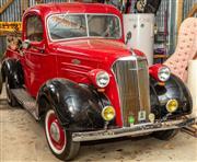 Sale 8984H - Lot 1 - 1937 Chevrolet pick up truck and trailer. 12 mths reg. on both, Truck: Plate CX54RU, VIN 598937, Eng.# 0113775F54X, Trailer (2003 bu...