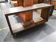 Sale 8988 - Lot 1078 - Kratz and Trope Trading Co Timber Entertainment Unit on Castors (H:63 W:120 D:35cm)
