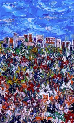 Sale 9143A - Lot 5006 - EVAN MACKLEY(1940 - 2019) - City of Flowers II 30 x 19 cm (frame: 58 x 45 x 4 cm)