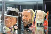 Sale 8324 - Lot 2 - Royal Doulton Toby Jugs Antagonists Collection & W.C. Fields (2)