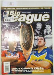 Sale 8404S - Lot 26 - 2001 Big League Grand Final Programme, Sept 30 (Vol.82, No.30), Parramatta v Newcastle