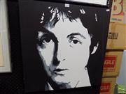 Sale 8461A - Lot 2028 - Paul McCartney Pop Art-Style Painting on Canvas