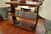 Sale 8515 - Lot 1073 - Art Deco Side Table (H 61 x W 70 x D 40cm)
