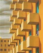 Sale 8738A - Lot 5093 - Jeffrey Smart (1921 - 2013) - Balconies 97.5 x 78.5cm (frame: 120.5 x 100.5cm)