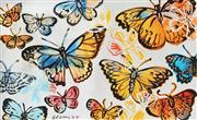 Sale 8781A - Lot 5053 - David Bromley (1960 - ) - Butterflies 77 x 126cm