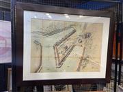 Sale 8927 - Lot 2053 - Birds Eye View Glebe with Blackwattle Bay & Rozelle Bay, Lithograph, 1915
