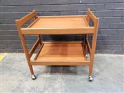 Sale 9039 - Lot 1037 - Teak Tea Trolley (h:74 x w:74 x d:50cm)