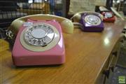 Sale 8287 - Lot 1086 - Three Vintage Coloured Telephones