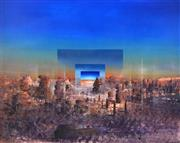Sale 8415 - Lot 557 - Ken Johnson (1950 - ) - Urban Desert, 1992 121 x 151cm